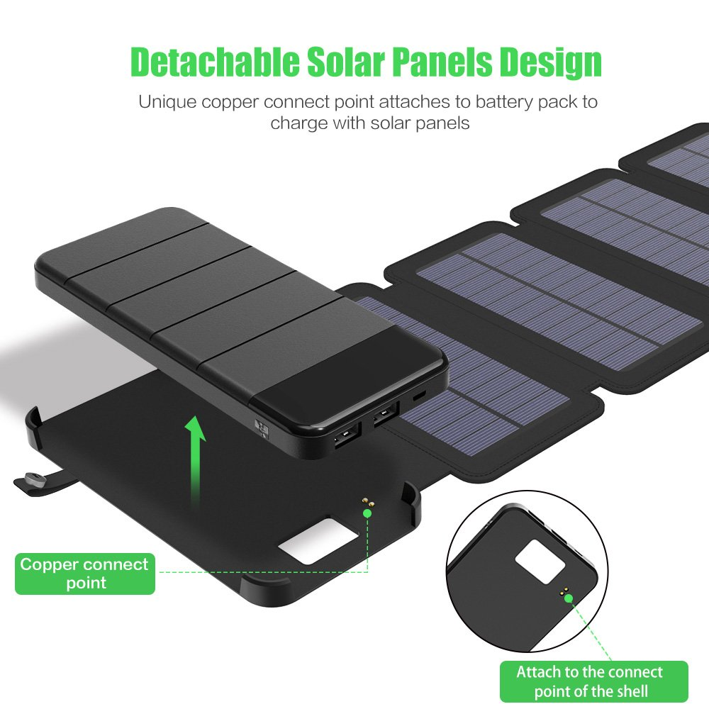 X Dragon Solar Charger With Foldable Panel Power Wiring Panels To Battery Bank 10000mah Portable Rugged Shockproof Dual Usb Compatible