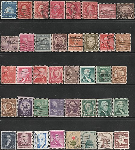 - 1900's Assortment Definitives & Prexies United States Postage Stamps