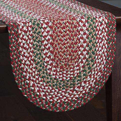 Park Designs Holly Berry Braided Table Runner 15X36