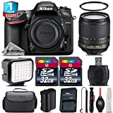 Holiday Saving Bundle for D7200 DSLR Camera + 18-105mm VR Lens + LED Kit + 2 Of 32GB Card + 1yr Extended Warranty + Case + Cleaning Brush + Cleaning Kit + Air Cleaner - International Version