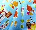 生地キャラクター お手軽 セット くまのがっこう (がんばれ!ルルロロ)(ブルー)#27 ( 2018) (生地40cm+縫い糸1個+ひも2m) はぎれ 布 キット ハギレ ピロル
