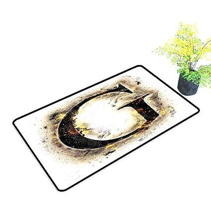 Amazon.com: Felpudo interior letra G abstracto Blaze diseño ...