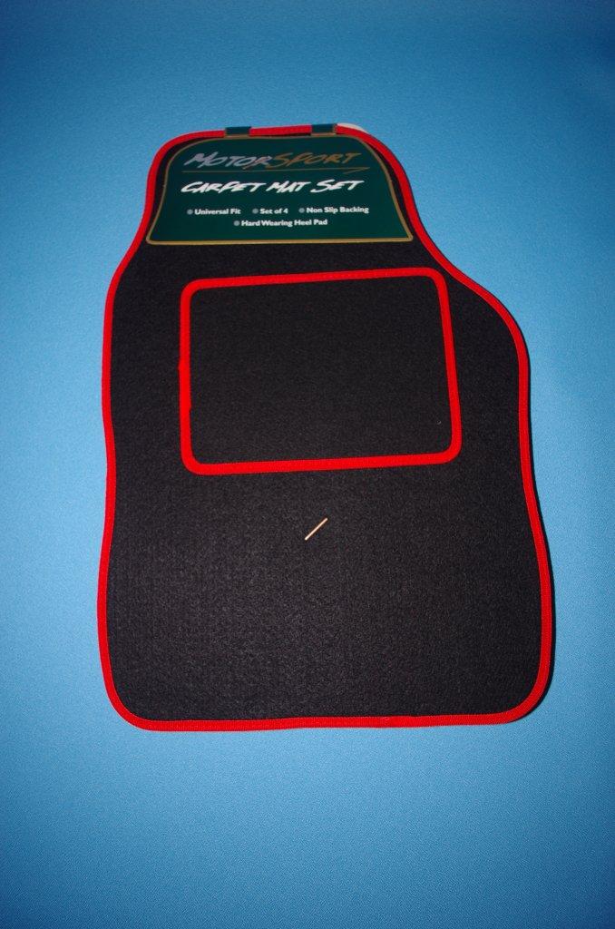 TAILORED CAR MATS BLACK & RED TRIM EZY TRADER