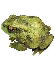 Muse Design Green Frog Toad Sculptures Garden Statues Yard Art Resin Decorations Outdoor Garden Decor