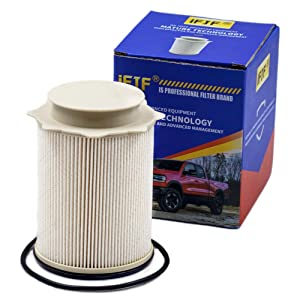 Fuel Filter 68157291AA for 2010-2017 Dodge Ram 2500, 3500, 4500, 5500 6.7L Cummins Turbo Diesel Engines Included O-ring Precision Designed Element Removes Microscopic Allow Enough Fluid or Air Flow