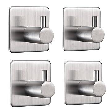 Ganchos para toallas Etime auto-adhesivos gancho de toalla de mano para pared de acero