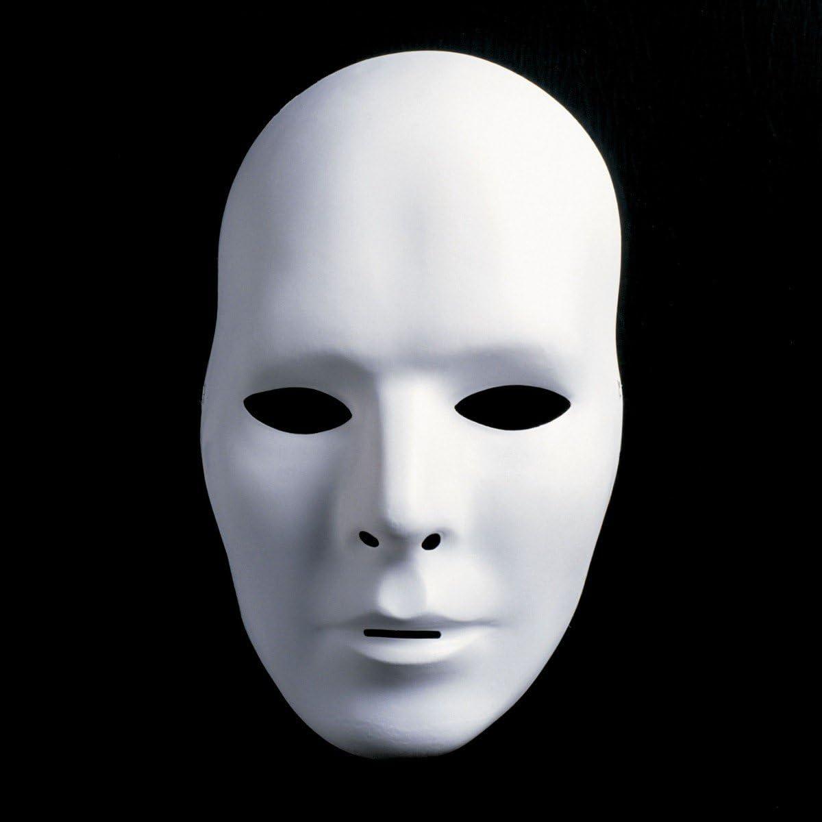 Mr maschera bianca non verniciato