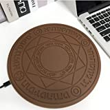 10w Magic Array Lighting Wireless Charger 10W Universal Qi Wireless Fast Charging Pad - Brown