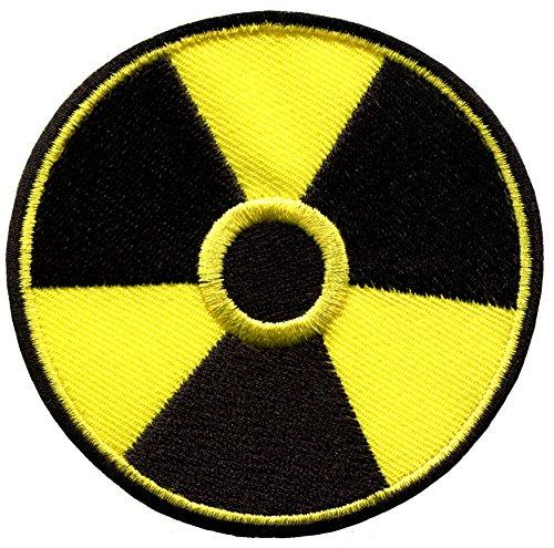 Radiation symbol warning biohazard applique