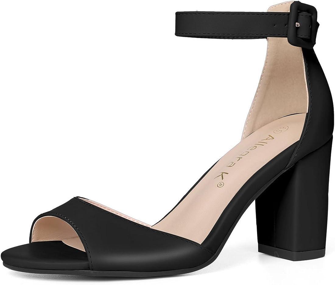 Allegra K Women's Block Heel Knotted