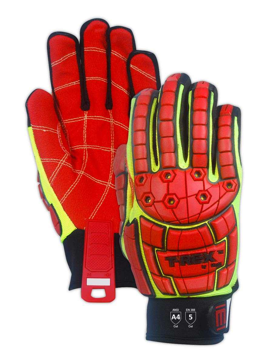 MAGID TRX647XXL Primal Series | Cut Level A4 M-Force Defense TPR Impact Work Gloves, Size 11/XXL, (1 Pair) by Magid Glove & Safety (Image #4)