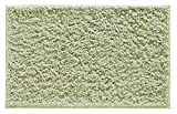 "mDesign Soft Microfiber Polyester Non-Slip Rectangular Shag Mat, Plush Water Absorbent Accent Rug for Bathroom Vanity, Bathtub/Shower, Machine Washable - 34"" x 21"" - Sage Green"