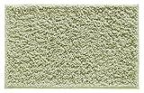 "mDesign Soft Microfiber Polyester Non-Slip Rectangular Shag Mat, Plush Water Absorbent Accent Rug for Bathroom Vanity, Bathtub/Shower, Machine Washable - 34"" x 21"" - Sage Green"