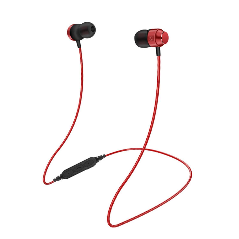 befon Bluetooth Headphones Earphones Bluetooth Headset Red