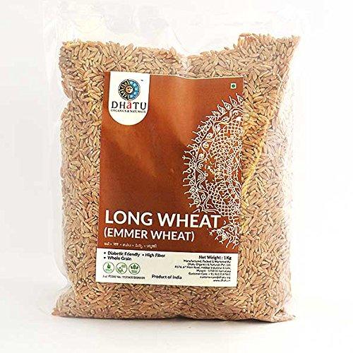 Dhatu Long Wheat (Emmer Wheat   Jave   Sambha   Farro) - 1Kg