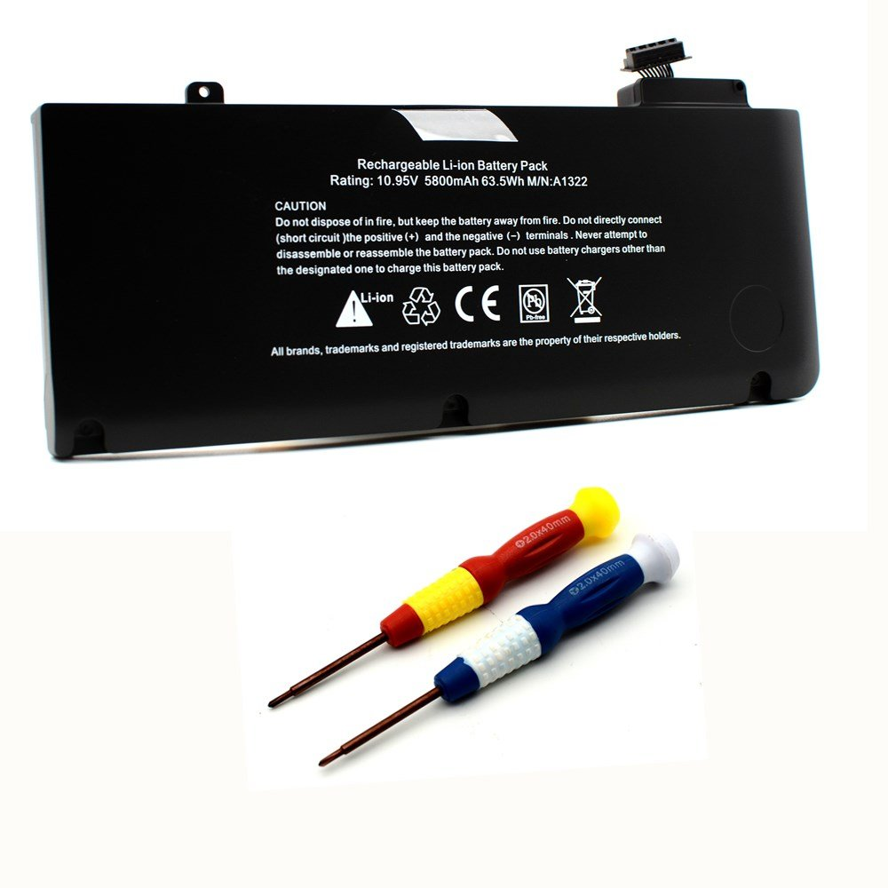 Bateria A1322 Para Macbook Pro 13 Inch Unibody A1278 Mid 2009 Mid 2010 Early 2011 Late 2011 Mid 2012 Version Mb990ll/a M