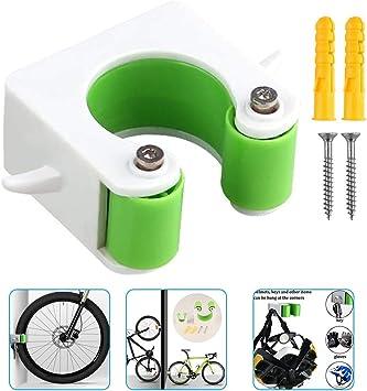 Soporte de pared con hebilla de estacionamiento para bicicleta, clip para bicicleta de montaña bicicleta de carretera soporte vertical (verde, bicicleta de carretera): Amazon.es: Deportes y aire libre