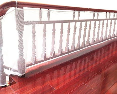 DECARETA Red de Seguridad Resistente para la Protección de Niños/Mascotas,Malla de Seguridad para Escaleras y Balcones 300 * 77cm, Blanco: Amazon.es: Bebé