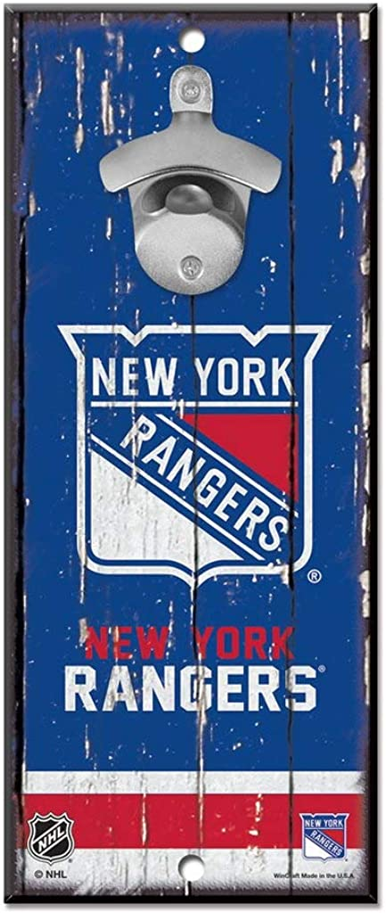 WinCraft NHL Unisex-Adult 5x11 Wood Sign Bottle Opener