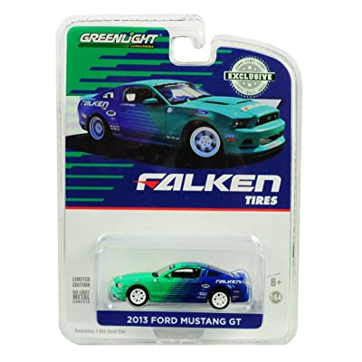Greenlight 2013 Ford Mustang GT Falken Tires Hobby Exclusive 1/64 Diecast Model Car: Toys & Games