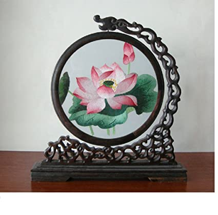 Amazon Double Sided Silk Embroidery Art Paintings Desk