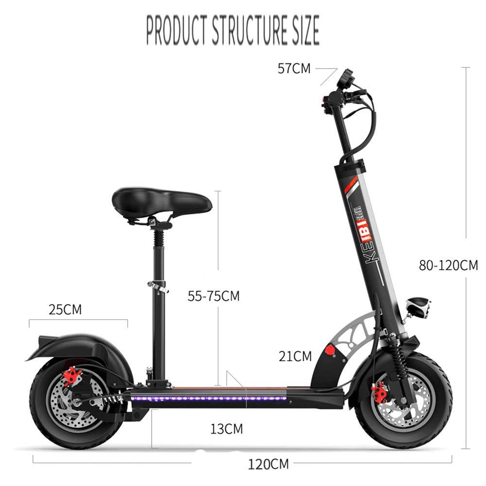 Scooter eléctrico Plegable 10AH batería de Alta Capacidad y ...