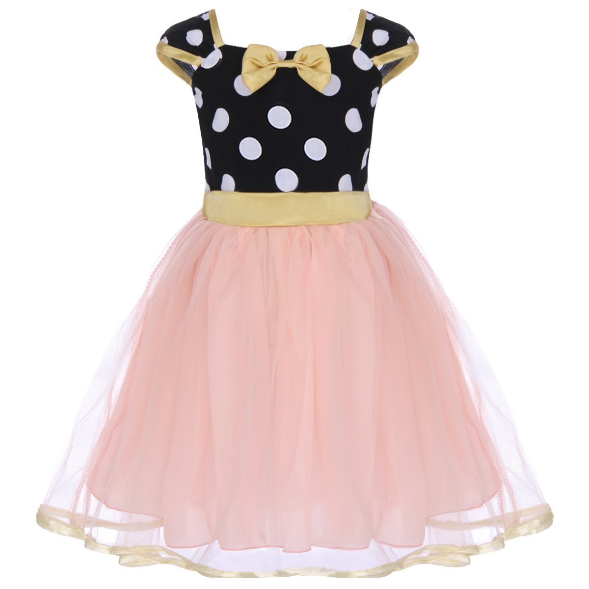 IWEMEK Toddler Girl Polka Dots Cosplay Birthday Princess Tutu Dress Up Fancy Christmas Ballet Leotard Costume with Headband