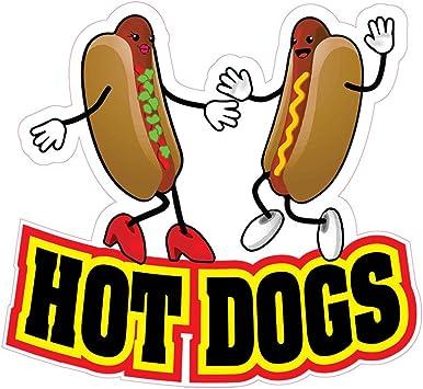 All Beef Hotdogs Concession Restaurant Food Truck Die-Cut Vinyl Sticker