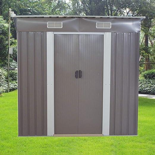 Volowoo Cobertizo de jardín de Metal, 6 x 4 pies, con Base ...