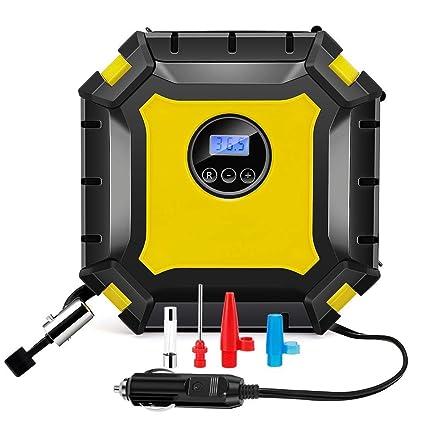 Bomba de compresor de aire portatil de 12V DC Inflador neumatico digital 100 PSI