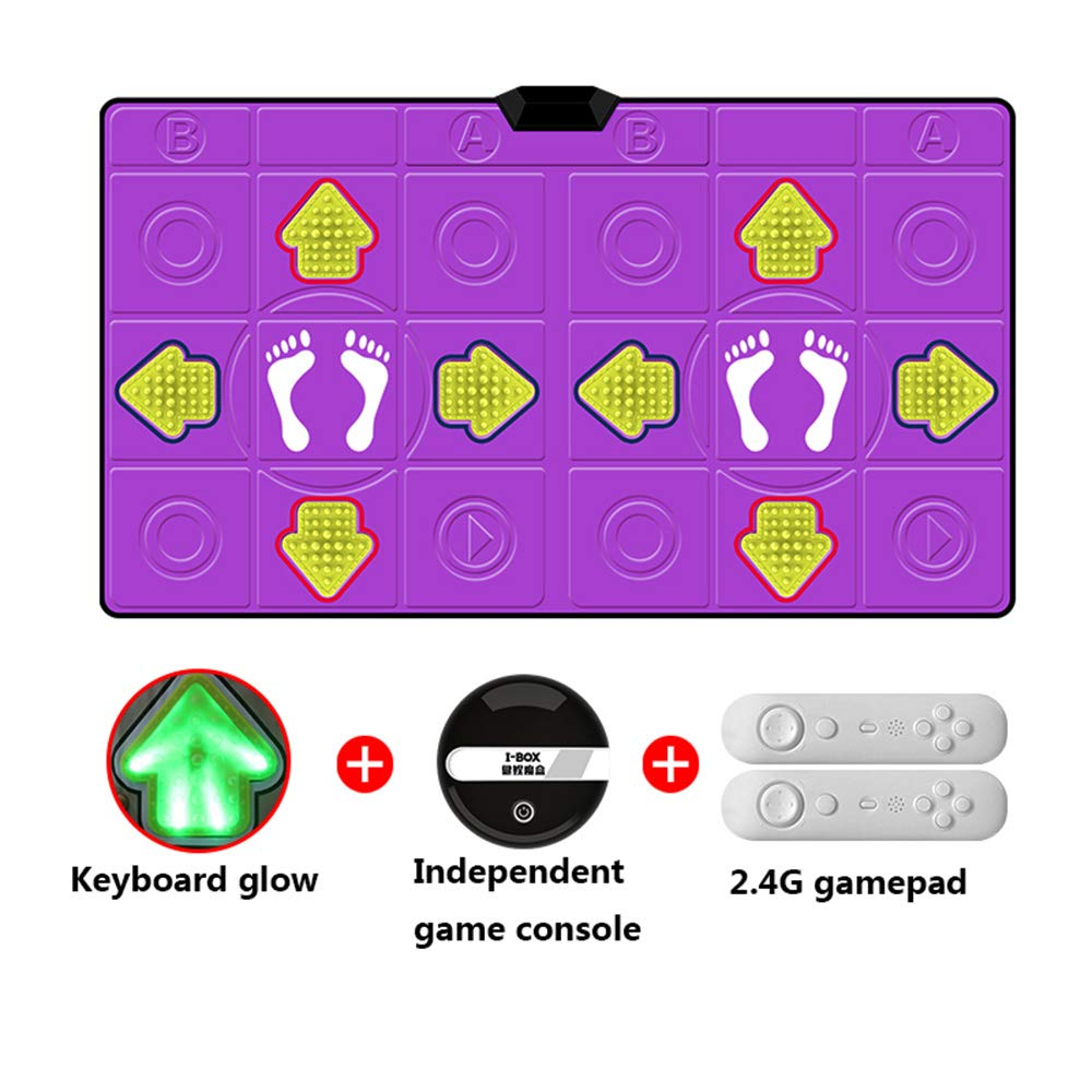 Dance mat Double Hd Game Console Child Adult Weight Loss Machine Pu Material 3D Picture, Silicone Massage Non-Slip, Family Game by Dance mat (Image #2)