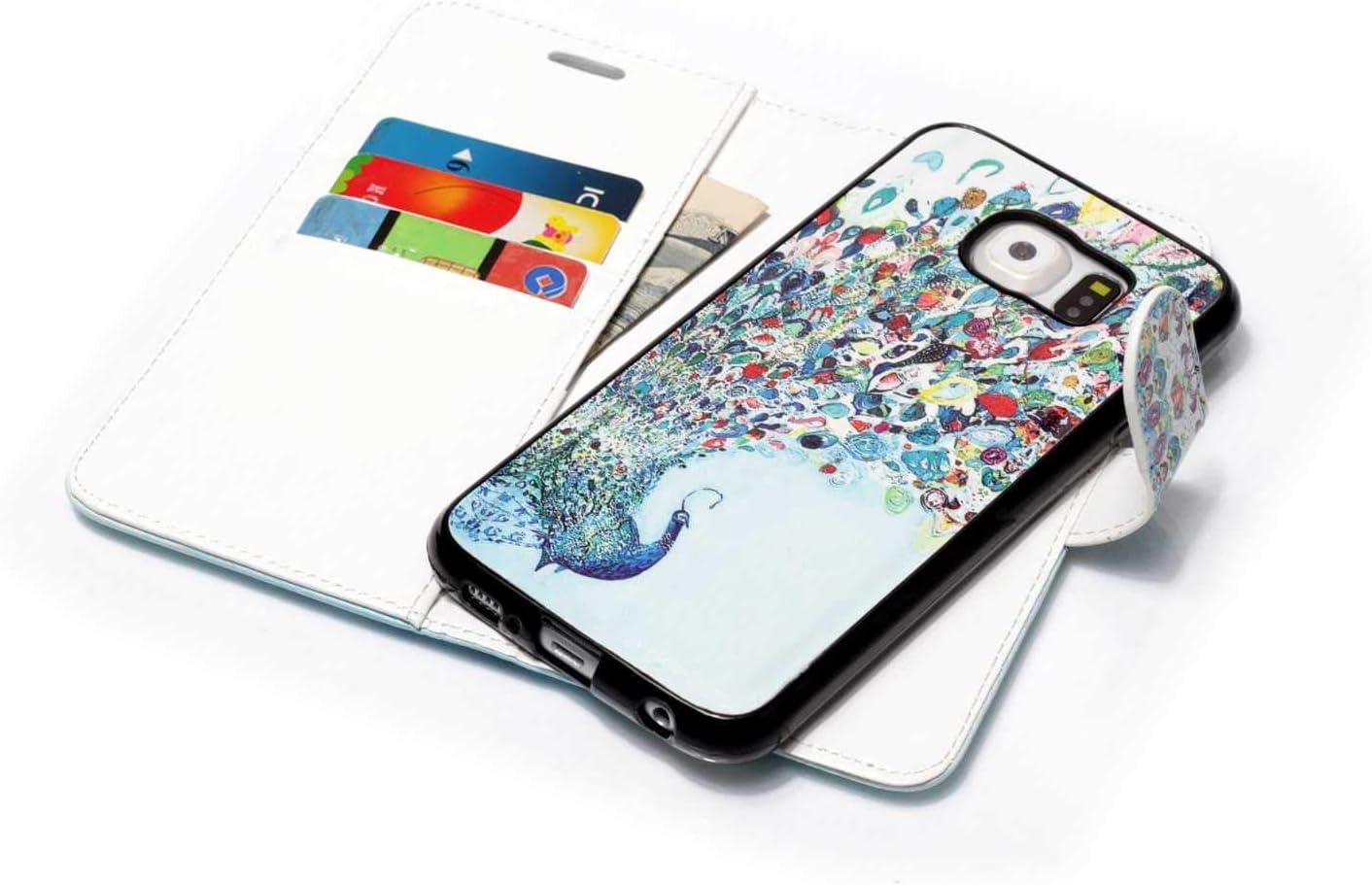 DENDICO Funda Galaxy S7, 2 en 1 Desmontable Funda de Piel ...