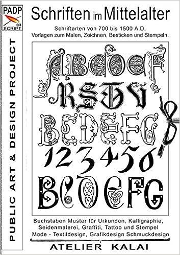 Padp Script 003 Schriften Im Mittelalter Schriftarten Von 700 Bis