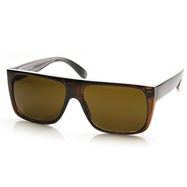 Kuss ® - Polarized Sunglasses - VINTAGE Stil Flat Top MMF JACOBS polarisierten Sonnenbrillen - SCHWARZ FyLionIW