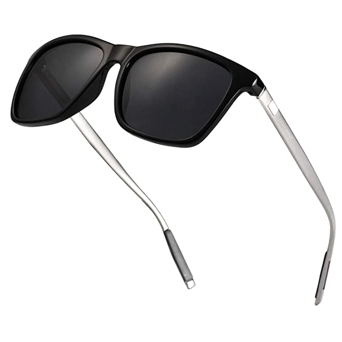03dd3c00f9 LEDING&BEST Occhiali da sole da uomo donna polarizzati Vintage occhiali da  sole/estate spiaggia Bici Corsa Guida Outdoor Sport Occhiali