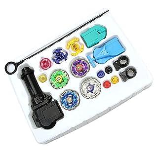 B Blesiya Giocattoli Filatura Trottole Lanciatore Metallo Fusione 4D Giochi Aperto Bambini Plastica Multicolore