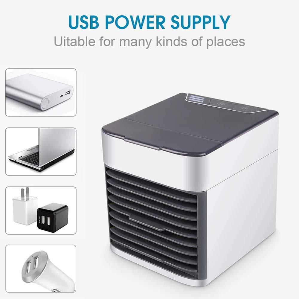 3 velocit/à 3 in 1 condizionatore Portatile refrigerato BOHENG Refrigeratore dAria Mini umidificatore//purificatore dAria 7 Colori a LED casa Camera da Letto