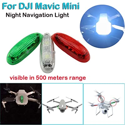 Tuscom LED Drone Light Night Navigation Light Strobe Lamp Compatible with DJI Mavic Mini Accessories: Home & Kitchen
