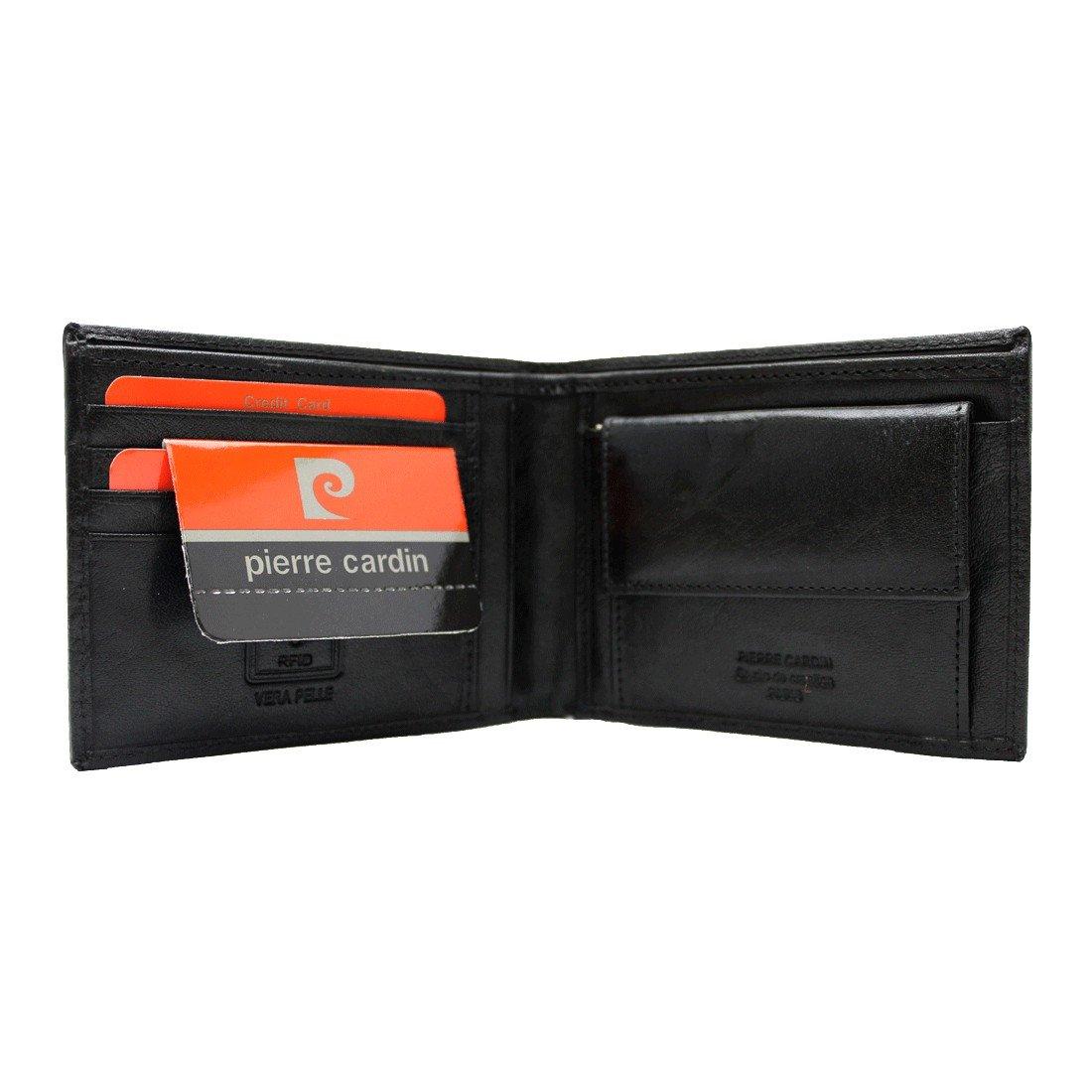 Mini cartera hombre Pierre Cardin negro cuero TILAK12 8805: Amazon.es: Ropa y accesorios