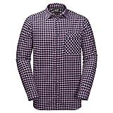 Jack Wolfskin Fraser Island Shirt, Night Blue Checks, X-Large