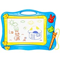 IDABAY Pizarra Magnética 4 Colores Magic Doodle Almohadilla Borrable de Escritura y Dibujo con Pluma Reutilizable Pizarra Mágica para niños de 2-5 años Juguetes Educativos