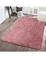 WHOW Super Soft Area Rug Modern Fluffy Shaggy Rugs for Bedroom Carpet for Living Room Kids Room Nursery Rug Play Mat for Kids
