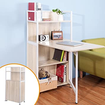 hideaway office furniture. LIFE CARVER Compact Computer Desk 4 Display Storage Shelves Hideaway  Folding Study Laptop Table Home Hideaway Office Furniture