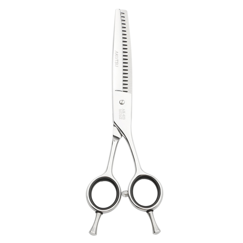 AKUTSU Salon Professional 6.0'' Hair Thinning/Texturizing Shears 17/23/35 Teeth Razor Edge Barber Scissors with Finger Inserts (23 Teeth) by AKUTSU (Image #4)