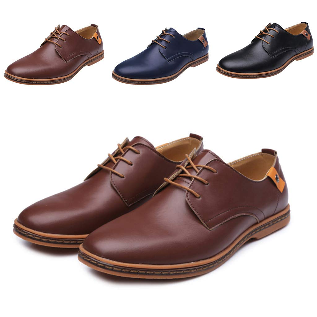 Mens Solid Leather Wedding Shoes Male Business Fashion Casual Lace Up Shoes,2019 New
