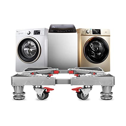 Cool Adjustable Refrigerator Stand Portable Washer Dryer Stand Roller Washing Machine Dolly Pedestal Base Cabinet With 8 Locking Rubber Casters Wheels Interior Design Ideas Oteneahmetsinanyavuzinfo