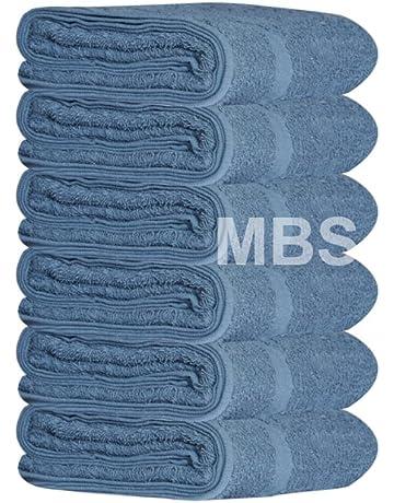 MBS - Juego de 6 Toallas de baño de algodón, Toalla de Ducha, Toalla