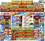 yogurt bars kids - Ultimate Healthy Fitness Box - Protein & Healthy Granola Bars Sampler Snack Box (56 Count) - Care Package - Gift Pack - Variety of Fitness, Energy Bars and Premier Protein Bars.