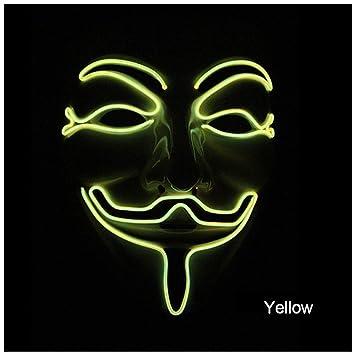 Amazon.com: Neon Mask Mascara Led Masque Masquerade Masks ...