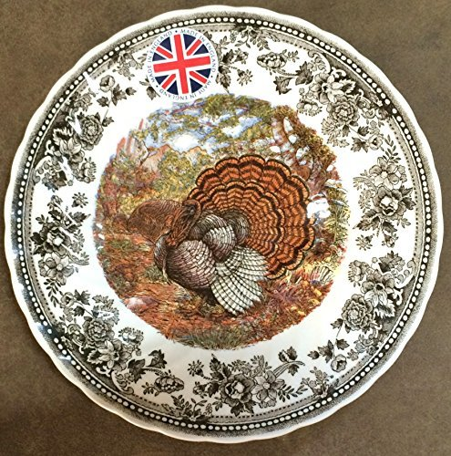 Queen's Quintessential Game Collection with Turkey Centerpiece / Set of 4 (Salad (Woodland Turkey Service Plate)
